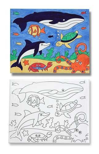 Pictura Pe Panza Canvas Peisaj Marin Melissa And Doug - Jucarii copilasi - Arta indemanare
