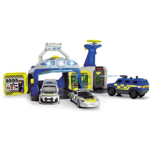 Pista de masini Dickie Toys SWAT Station cu 3 masini de politie si drona - Jucarii copilasi - Avioane jucarie