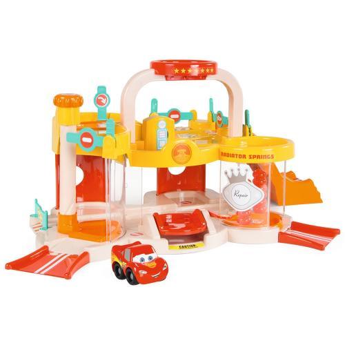 Pista de masini Smoby Vroom Planet Garage cu masinuta Cars - Jucarii copilasi - Avioane jucarie