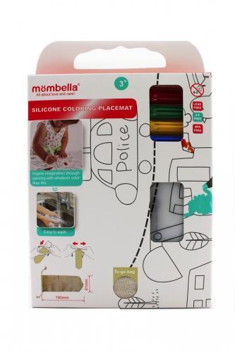 Plansa de colorat pentru scaun de masa - mombella - city - Hrana bebelusi - Accesorii alimentare