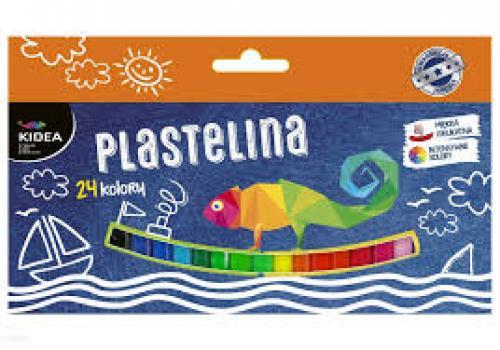 Plastelina 24 culori Kidea - Rechizite - Creione carioci