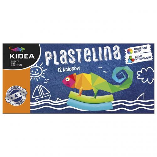 Plastilina 12 culori Kidea - Rechizite - Creione carioci