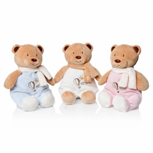 Plus Bebelusi Ursulet 28 cm cu zornaitoare (3 culori) - Artesavi - Jucarii copilasi - Jucarii din plus