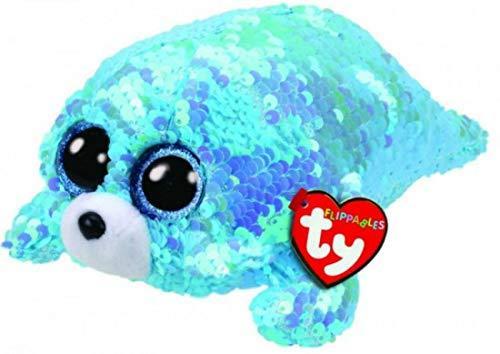 Plus cu paiete foca WAVES (15 cm) - Ty - Jucarii copilasi - Jucarii din plus