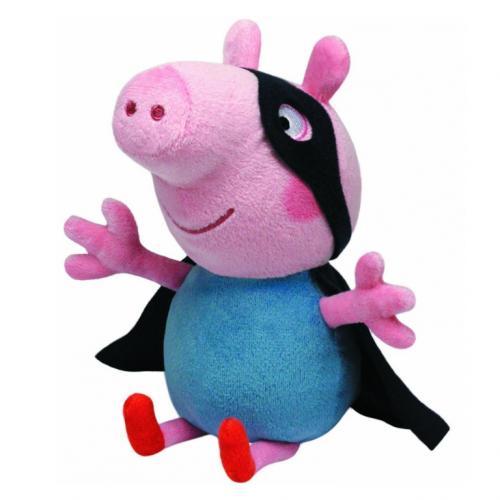 Plus licenta Peppa Pig - George Supereroul (28 cm) - Ty - Jucarii copilasi - Jucarii din plus