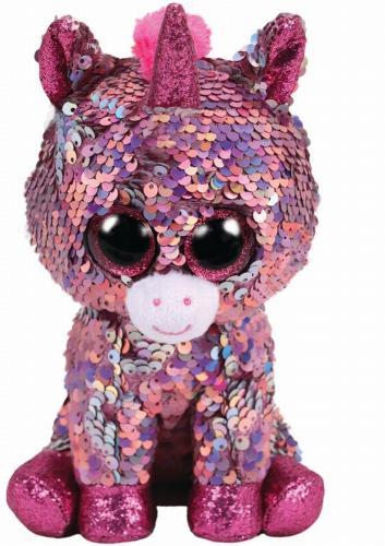plus ty 24cm boos unicornul roz cu paiete - Jucarii copilasi - Jucarii din plus