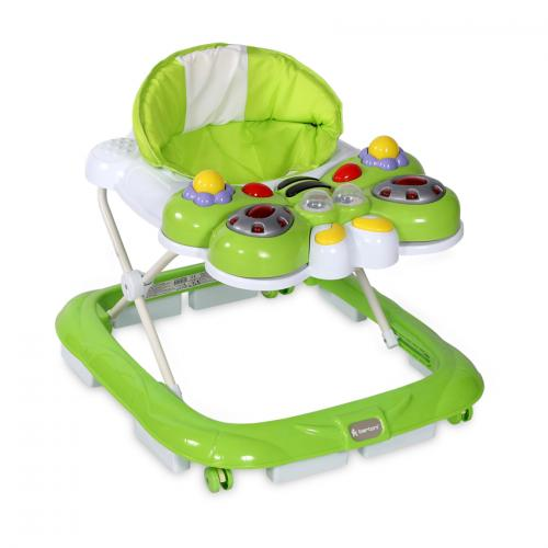 Premergator bw-11 butterfly cu eurobaza - green - Plimbare bebe - Premergator copii