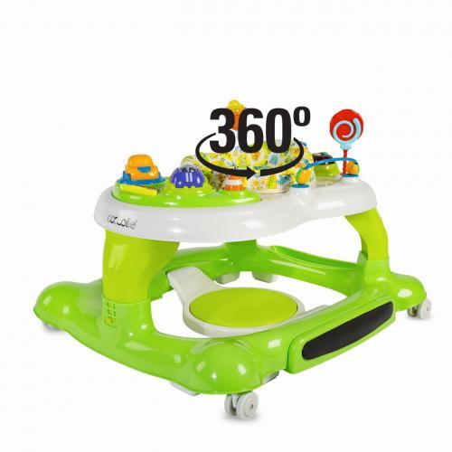 Premergator cu centru de activitati Coccolle Arlo Verde - Plimbare bebe - Premergator copii