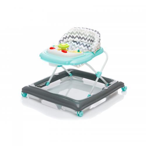 Premergator cu jucarie Grey Zick-zack Fillikid - Plimbare bebe - Premergator copii