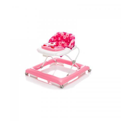 Premergator cu jucarie Pink flower Fillikid - Plimbare bebe - Premergator copii
