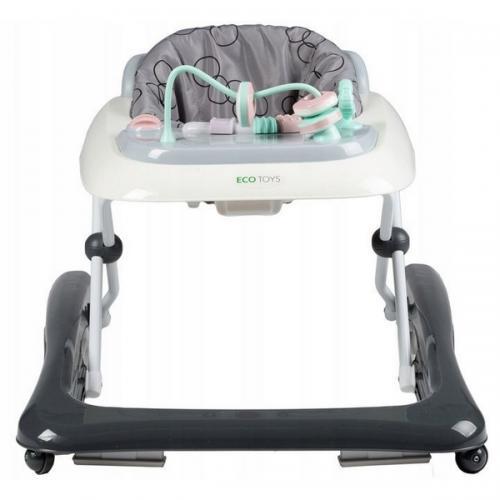 Premergator educational ecotoys - gri cu alb - Plimbare bebe - Premergator copii