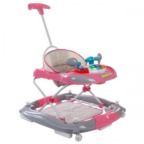 Premergator sun baby cu maner 014 - pink grey - Plimbare bebe - Premergator copii