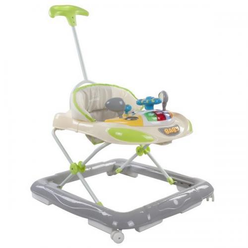 Premergator sun baby cu maner - sunete si lumini 006 - green grey - Plimbare bebe - Premergator copii