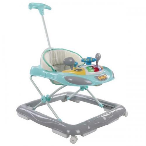 Premergator sun baby cu maner - sunete si lumini 006 - turquoise - Plimbare bebe - Premergator copii