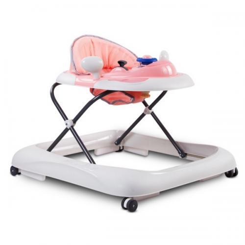 Premergator sun baby cu sunete si lumini 019 - pink grey - Plimbare bebe - Premergator copii