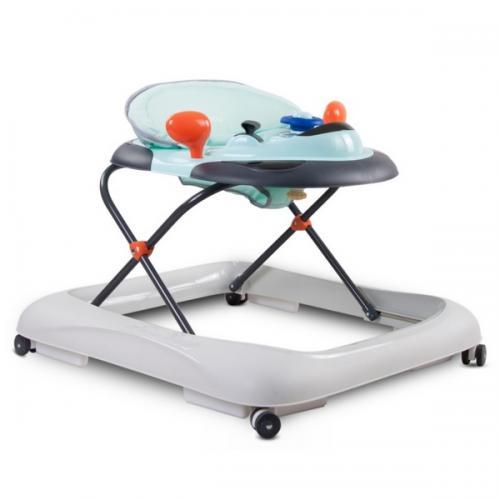 Premergator sun baby cu sunete si lumini 019 - turquoise grey - Plimbare bebe - Premergator copii