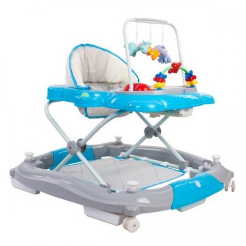 Premergator sun baby pisicuta 021 cu functie de balansoar - blue grey - Plimbare bebe - Premergator copii