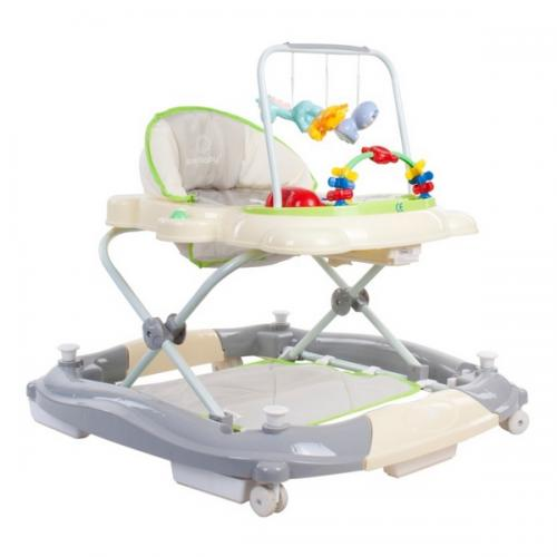 Premergator sun baby pisicuta 021 cu functie de balansoar - green grey - Plimbare bebe - Premergator copii