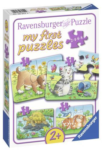 Primul Meu Puzzle Animale - 2/4/6/8 Piese - Jocuri pentru copii - Jocuri cu puzzle