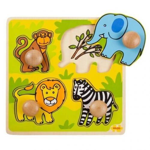 Primul meu puzzle - Safari - Jocuri pentru copii - Jocuri cu puzzle
