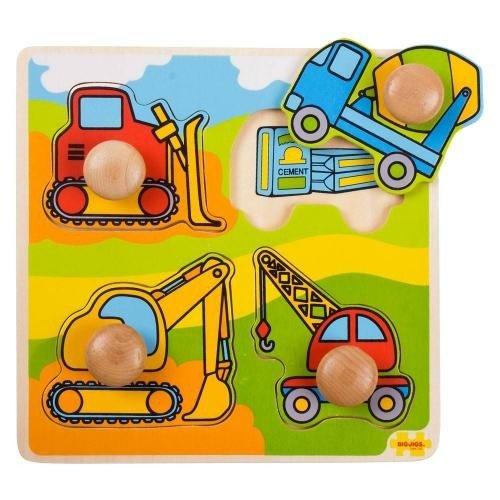 Primul meu puzzle - Santierul de constructii - Jocuri pentru copii - Jocuri cu puzzle