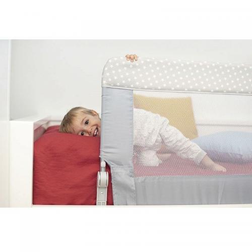 Protectie pat rabatabila pentru somiera adancita 150/59 cm Olmitos Grey Stars - Camera bebelusului - Accesorii patuturi