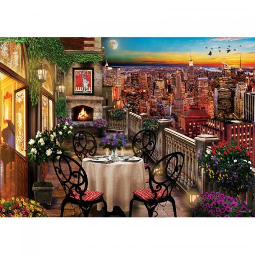 Puzzle 1000 piese - Dinner At New York - Jocuri pentru copii - Jocuri cu puzzle