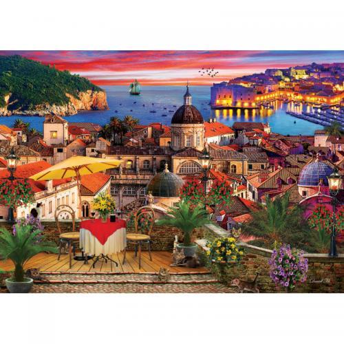 Puzzle 1000 piese - Dubrovnik - Jocuri pentru copii - Jocuri cu puzzle