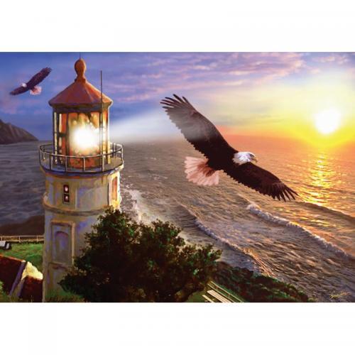 Puzzle 1000 piese - High Flight At The Sun Rise-Steve Sundram - Jocuri pentru copii - Jocuri cu puzzle