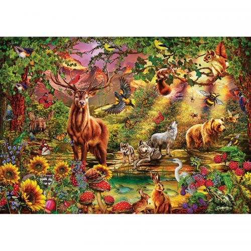 Puzzle 1000 piese - Magic Forest - Jocuri pentru copii - Jocuri cu puzzle