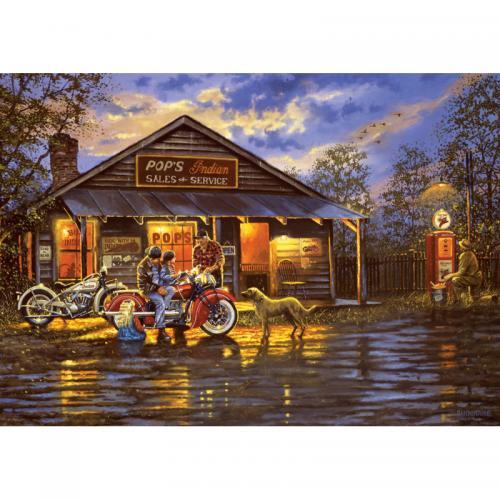 Puzzle 1000 piese - Motorcyclist - Jocuri pentru copii - Jocuri cu puzzle
