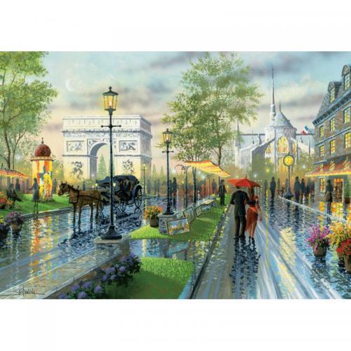 Puzzle 1000 piese - Spring Walk - Paris-Ken Shotwell - Jocuri pentru copii - Jocuri cu puzzle