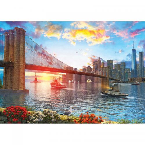 Puzzle 1000 piese - Sunset On New York - Jocuri pentru copii - Jocuri cu puzzle