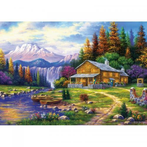 Puzzle 1000 piese - Sunset On The Mountains-Arturo Zarraga - Jocuri pentru copii - Jocuri cu puzzle