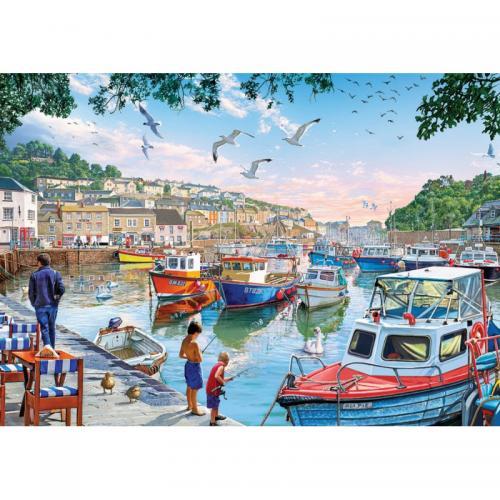 Puzzle 1000 piese - The Little Fishermen At The Harbour-Steve Crisp - Jocuri pentru copii - Jocuri cu puzzle