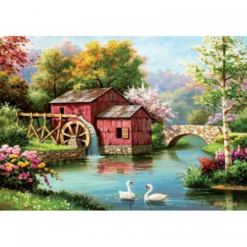 Puzzle 1000 piese - The Old Red Mill - Jocuri pentru copii - Jocuri cu puzzle