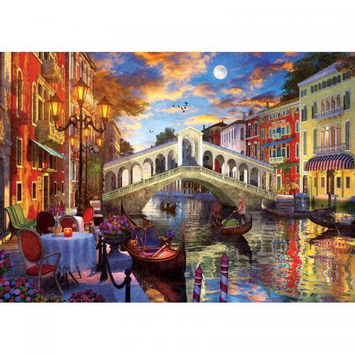 Puzzle 1500 piese - Rialto Bridge - Venice - Jocuri pentru copii - Jocuri cu puzzle