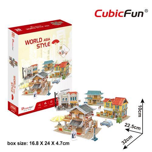 Puzzle 3D - Case traditionale din Asia - Jocuri pentru copii - Jocuri cu puzzle