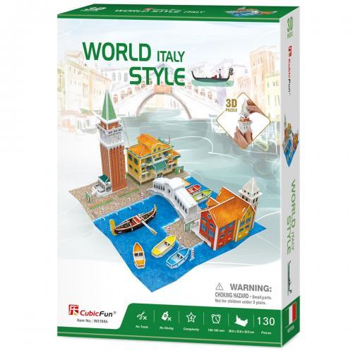 Puzzle 3D - Case traditionale din Italia - Jocuri pentru copii - Jocuri cu puzzle