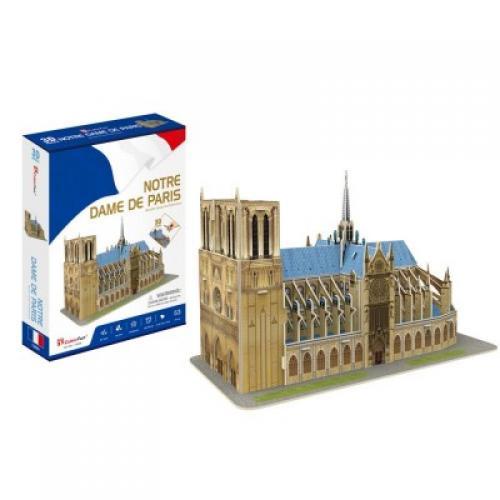 Puzzle 3D - Catedrala Notre-Dame din Paris - Jocuri pentru copii - Jocuri cu puzzle