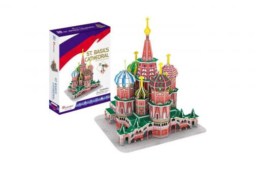 Puzzle 3D - Catedrala Sf Vasile - Jocuri pentru copii - Jocuri cu puzzle