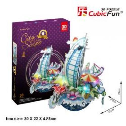 Puzzle 3D - Cityscape - Dubai (cu LED) - Jocuri pentru copii - Jocuri cu puzzle