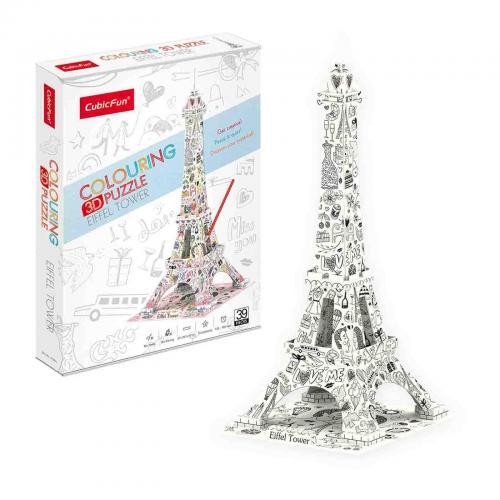 Puzzle 3D - Eiffel Tower - Jocuri pentru copii - Jocuri cu puzzle