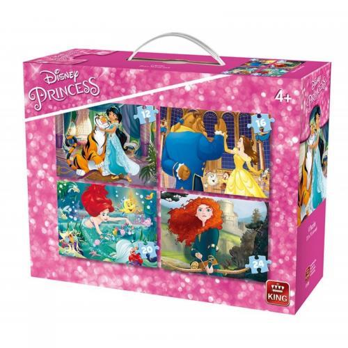 Puzzle 4in1 4 Princesses - Jocuri pentru copii - Jocuri cu puzzle