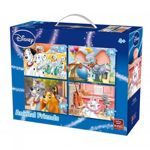 Puzzle 4in1 Animal Friends - Jocuri pentru copii - Jocuri cu puzzle