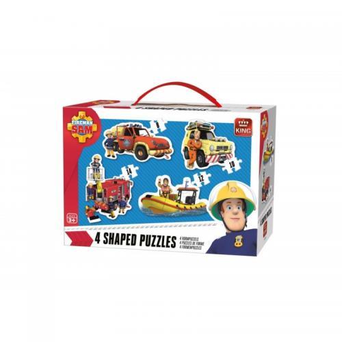 Puzzle 4in1 Fireman sam - Jocuri pentru copii - Jocuri cu puzzle