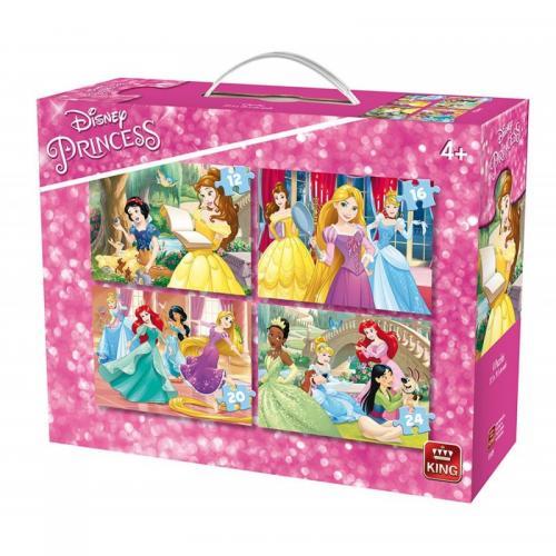 Puzzle 4in1 Princess - Jocuri pentru copii - Jocuri cu puzzle