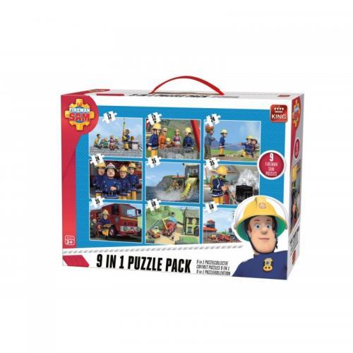 Puzzle 9in1 Fireman sam - Jocuri pentru copii - Jocuri cu puzzle
