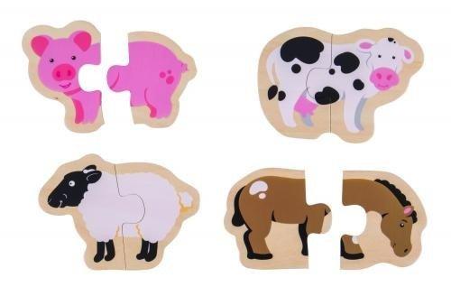 Puzzle - animale de la ferma - Jocuri pentru copii - Jocuri cu puzzle