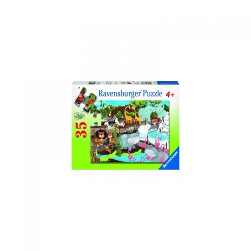 Puzzle Animale De La Zoo - 35 Piese - Jocuri pentru copii - Jocuri cu puzzle